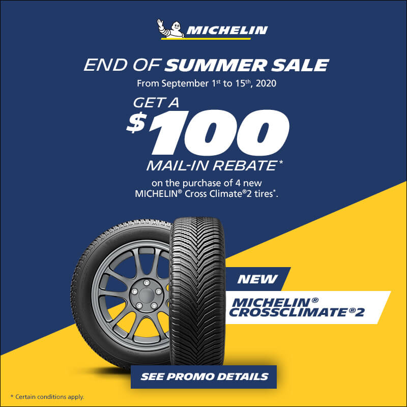 Tire Sale at Fastech Performance Tire. Save $100 on Michelin Cross Climate tires.